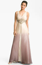 Sue Wong Embellished Ombré Overlay Silk Gown (size 2) ^