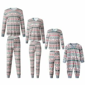 Pajamas Matching Moose Clothes Set Mom Daughter Father Son Outfit Kid Nightwear
