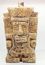 Tequilla Blanco Jorongo Decanter Aztec Mayan God EMPTY Bottle 1 L Tiki Bar Decor