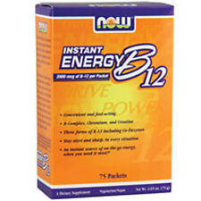 Instant Energy B-12 75/box 2000mcg by Now Foods