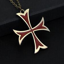 Très Belle Croix avec Chaine Pour Homme en argent Beau Model ASSASSIN'S CREED