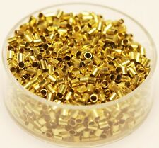 Raw Solid Brass USA Hole 1.5 mm Brass Tube Spacer Beads 2 x 6 mm 500 Pcs.
