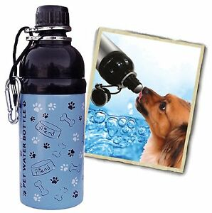 Bulk Lot 14 Units-16 oz. Dog Friend Stainless Steel Pet Water Bottle - BPA-Free