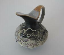 Vintage Ceramic Miniature Raised Multicolored Dragon with Gold Trim Pitcher