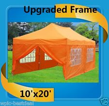 10'x20' Pop Up Canopy Party Tent EZ - Orange - F Model Upgraded Frame
