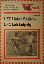 Programm 1985/86 Union Berlin - Lok Leipzig