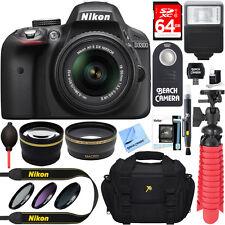 Nikon D3300 DSLR 24.2 MP HD 1080p Camera with 18-55mm Lens + Accessory Bundle