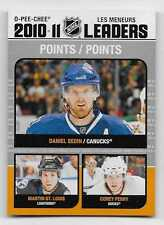 11/12 O-PEE-CHEE LEAGUE LEADERS Daniel Sedin/Martin St. Louis/Corey Perry #LL3