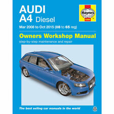Audi A4 Haynes Manual 2008-15 inc Avant  2.0 Diesel  Workshop Manual