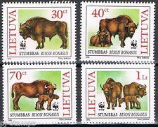 Litouwen  1996 599-602 natuurbescherming wisent - Europese bizon