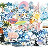 50 Large Vsco Surf Beach Ocean Summer Stickers Waterproof For Laptop Hydroflask