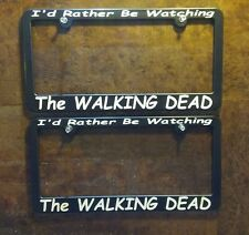 2 THE WALKING DEAD license plate frames Daryl Dixon Norman Reedus Rick Grimes