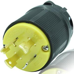 Journeyman Pro 2711 L14-30P 30A Twist Locking Male 4 Prong Generator Plug 30 amp