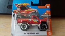 2017 HOT WHEELS - 1987 TOYOTA PICKUP TRUCK     SHORT CARD 1/64 APROX *NEW*