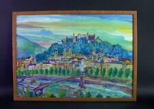 expressives farbkräftiges Gemälde - SALZBURG - Mischtechnik - monogrammiert