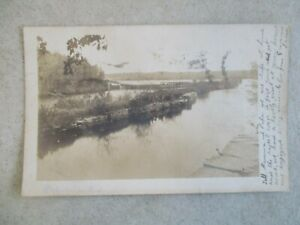 VINTAGE RPPC RHODE ISLAND PROVIDENCE WATERFRONT 1906 ONE CENT STAMP POST