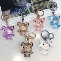 Car Ornaments Crystal Pig Bag Charm Pig Keychain Key Rings Car Pendant