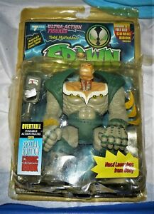 Spawn Overtkill Action Figure NEW READ Green Armor - Blue Backround