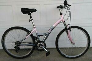 "K2 T-Nine Breeze Shimano Hybrid Mountan Bike Pink/Gray Excellent Women 5'3""-5'6"""