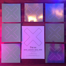 """10x JAPAN CD COVER ARTWORK PROMO OFFICIAL STICKER +2x FLYERS! THE XX """"I SEE YOU"""""""