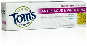 Antiplaque & Whitening Toothpaste by Tom's of Maine, 5.5 oz Fennel