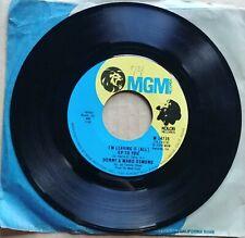 "Donny & Marie Osmond 45 7"" Pop Rock Record Vinyl Mgm Records 1974"