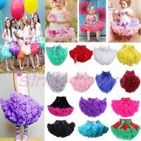 Girls Princess Multi-color Fluffy Pettiskirt Skirt Petti Party Dance Tutu Dress