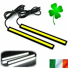 2pcs 12V LED Strip Daytime Running Lights Fog DRL COB Car Lamp White Day Driving