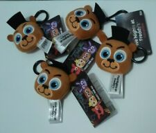 Five Nights at Freddy's Lot of 4 Plush Keychains Freddy Fazbear  Backpack Clips