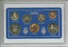 1988 Vintage Coin Set 29th Birthday Year Present Silver Wedding Anniversary Gift