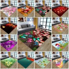 Dream Butterfly Floral Area Rugs Kitchen Living Room Floor Mat Non-slip Carpets