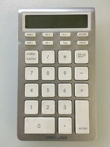 SMK-Link Wireless Bluetooth Calculator Keypad for Mac and PC VP6272/VP6273