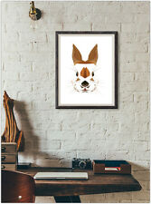 Rabbit Bunny Print Fashion Poster Home Interior Wall Picture Decoration A4