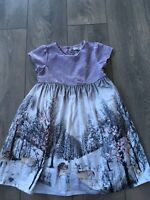 Girls Gorgeous Next Winter Scene Party Dress Age 4-5 Years