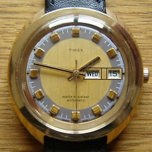 Men's Vintage 1973 Timex Automatic Day Date Watch -  British Made & FWO