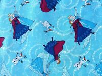 ANNA ELSA OLAF DISNEY FROZEN FABRIC SILVER METALLIC SISTERS FOREVER  BY THE YARD