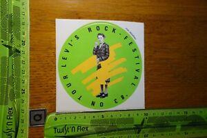 Alter Aufkleber Bühne ROCK FESTIVAL Levi's on Tour 1983 (B)