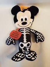 Disney Mickey Plush Halloween Treat Bag Skeleton Costume Stuffed Animal Plush