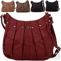 Mujer / Mujer Piel Auténtica Bolso de mano / Bolsa de hombro con tachones Diseño