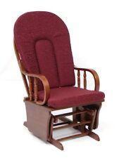 Poltrona Salotto sedia a dondolo in legno mod.douglas col.bordeaux