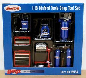 GMP 18938 1:18 Binford Tools Home Improvement Shop Tool Set Mint/ Boxed