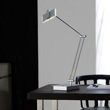 WOFI LED Lámpara de MESA Voss 1 Luz Cromo Vidrio regulable 7,2 vatios 580 Lumen