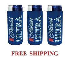 Michelob Ultra Slim Can 3 Cooler Coozie Coolie Koozie Huggie New Bud Budweiser