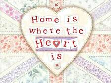 Home is Where the Heart is. Cute New House Gift Medium Metal/Steel Wall Sign