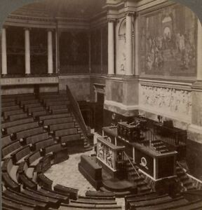France. Paris. The Chamber of Deputies. Chambre des Députés, Interior Stereoview