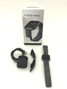 *PRE-OWNED* Fitbit Versa Special Edition - Charcoal Woven Band (FB505BKGY)