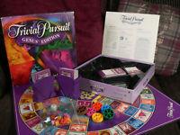 Trivial Pursuit Genus Edition Parker Board Game Complete 2001