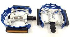 XLC Bear Trap bike pedals 9/16 blue old school MTB BMX bicycle Beartrap