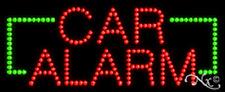 "NEW ""CAR ALARM"" 27x11 BORDER SOLID/ANIMATED LED SIGN W/CUSTOM OPTIONS 20030"