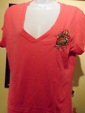 Christian Audigier Ed Hardy Women's  Eternal V- T-Shirt  Extra Large